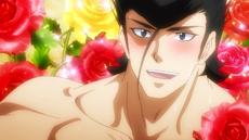 Bulat sonriendo a Tatsumi