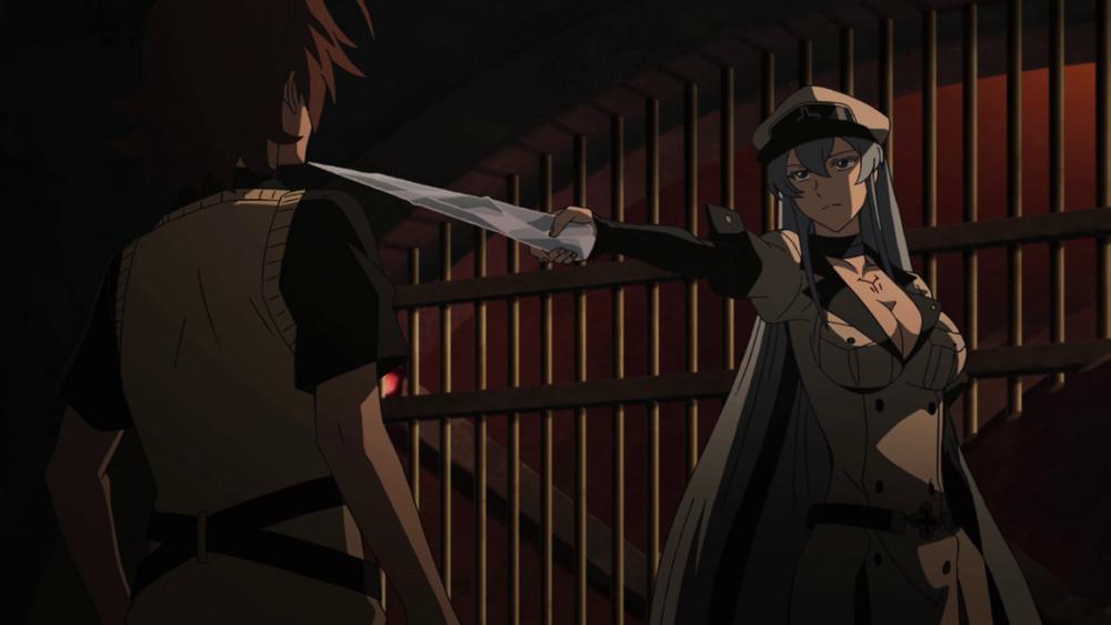 Esdeath přišla do vězení za Tatsumim