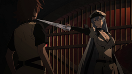 Esdeath threatens Tatsumi