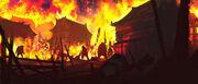 Tsukuru en llamas