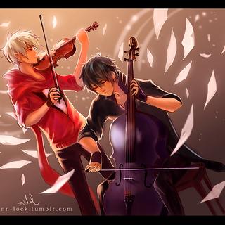 Red tocando el violin