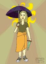 Umbrella sunny-that gets my goat