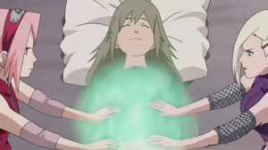 Sakura y Ino healing Yuukimaru