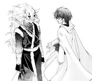 Yona le dice al Seiryuu que se vaya con ella