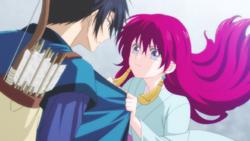 Yona le dice a Hak que se entregue a ella Anime