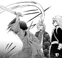 Yona slashes Hiyou's face
