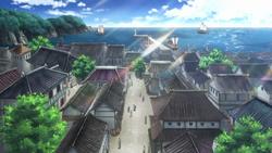 Puerto de Awa en anime