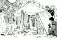 Yoon unveils the group's new tent