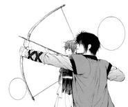 Hak enseña a Yona arquería