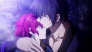 Hak besa a Yona en la frente anime