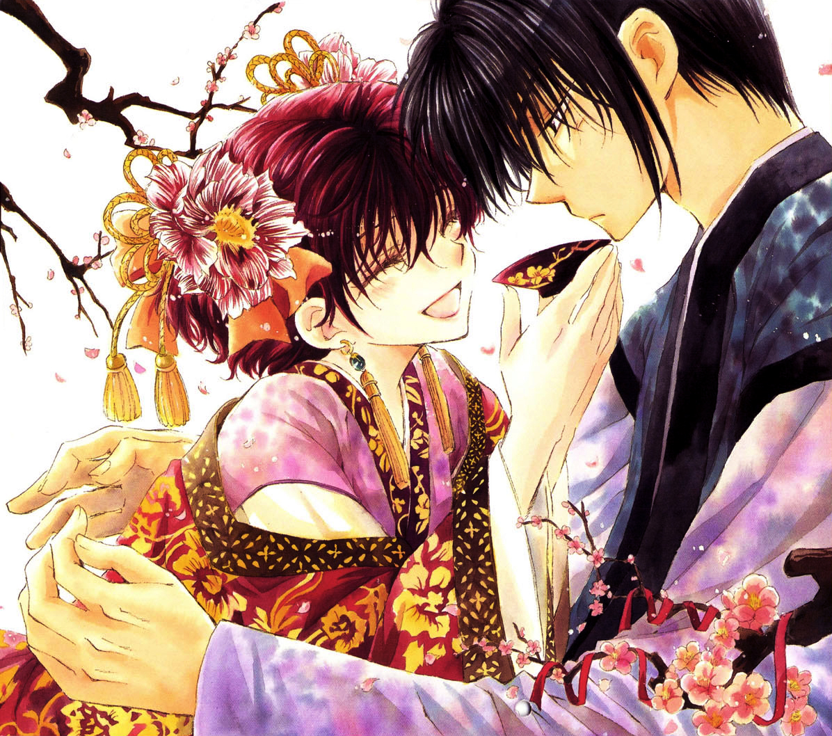 Warriors Of The Dawn Synopsis: Hak And Yona Under The Cherry Blossoms.jpg