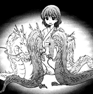 Yona sits with the four dragons