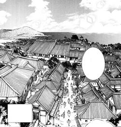 Puerto de Awa en manga