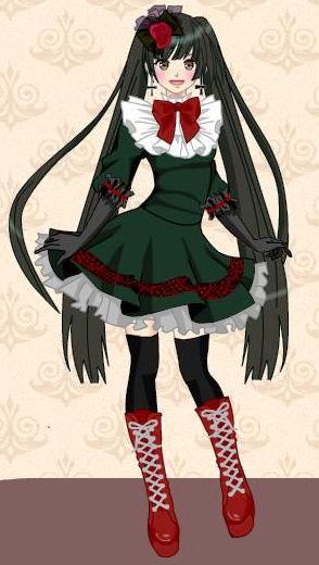 image takamina aizawa anime gothic girl dress up game