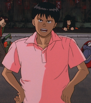 Kaneda Shotaro talking to Tetsuo