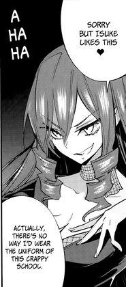 Isuke complaining about Myojo academy's school uniform look