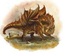 Brown dragon Wyrmling
