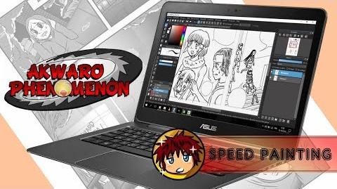 Speed Drawing Dessin d'une page de manga AP