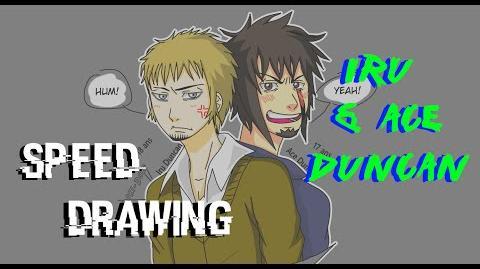 Speed Drawing Dessin d'Iru et d'Ace Duncan HD