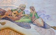 Scheherazade and the Sultan in Agrabah Bazaar at Disneyland