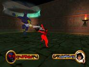 Aladdin fights Anubis