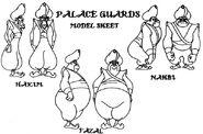 Royal Guards model sheet