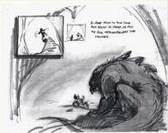 Stone Elemental monster storyboard concept art