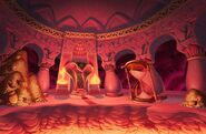 Jafar throne room concept art