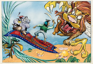 Aladdin Roc and Winged Lion concept art