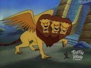 Giant Three Headed Lion