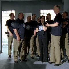 Die Bowling-Mannschaft der Autobahnpolizei.