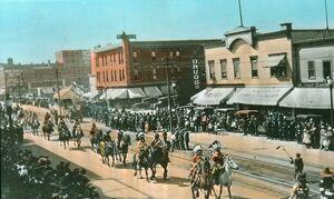 Parade celebrating anniversary of the Hudson's Bay Co., Edmonton