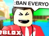 BANNING PEOPLE WITH ROBLOX ADMIN COMMANDS