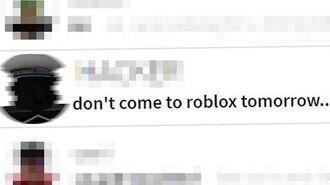 I just got a disturbing message on roblox...