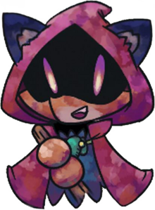 fox wearing a cloak that overshadows their face