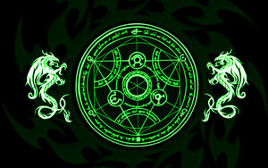 Green transmutation circle by zackBlack16