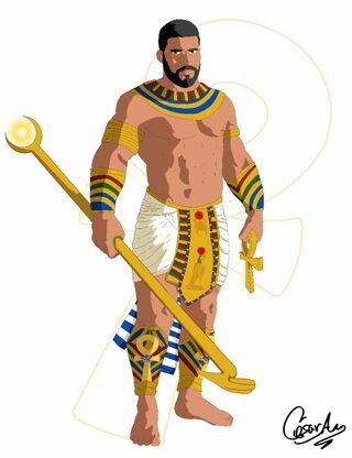 Dios horus color cel shader