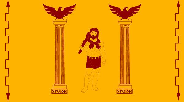 Bandera del Imperio remano Hispanico