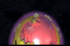 Una vista del planeta Hundido