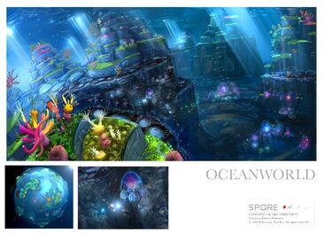 Underwaterlevel-spore