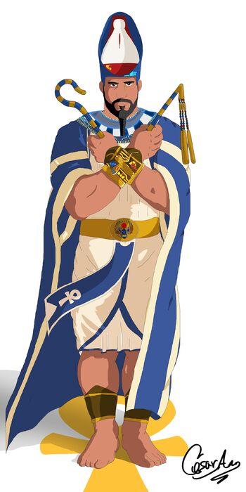 Gloria al faraon Amenothep color-Cell Shading low