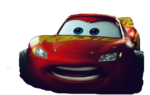 Lightning McQueen angry – transparent