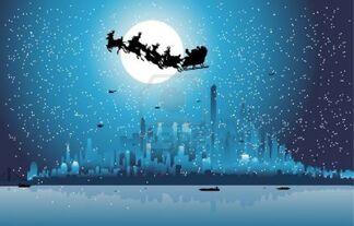 8974306-santa-claus-riding-his-sleigh-over-a-city