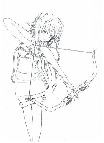 File:Elfe archer by miwa e-d5qdtdf.jpg