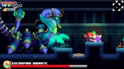 A lenda do herói Chefe 4 ESCORPIÃO GIGANTE-0