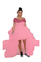 Alessia Cara Dark Ponytail wearing a Pink Princess Dress