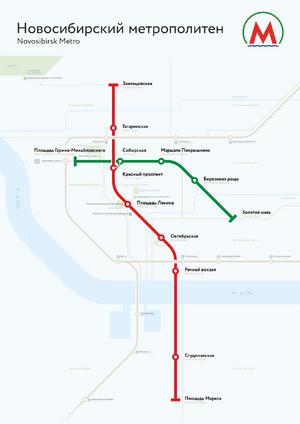 NSK metro map