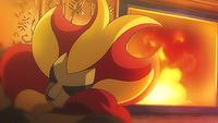 Lexi Pyroar sleeping
