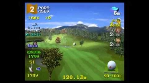 Hot Shots Golf 2 - Gex vs. Sweet Tooth vs. Sir Dan