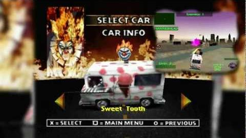 PSX Twisted Metal 2 - (TM World Tour) Car menu Special Weapons
